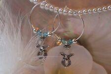Creolen Engel Ohrringe Ohrhänger facettiert Kristall Perlen im Geschenksäckchen
