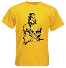SKULL Girl T-Shirt-Goth Horror Biker perverso Fetish Gothic-Scelta di Colori