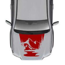 Sticker Kit Modern Hood Stripes for Toyota Tacoma design Turbo 2016 2017 2018
