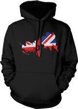 United Kingdom Outline Flag Union Jack Great Britian Pride Hoodie Pullover
