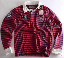 Scotch & Soda Herren Langarm-Shirt Größe wählbar rot blau mit Print 08010140414