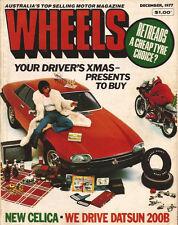 Wheels Dec 77 X19 Monte Carlo Porsche 924 Morgan F100