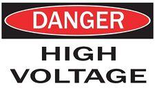 DANGER -HIGH VOLTAGE / Vinyl Decal / Sticker / Safety Label  PIckA Size