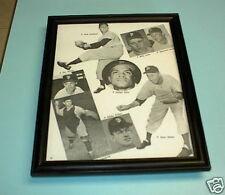 1960 GIANTS B&W FRAMED COLLAGE PRINT ALOU JONES