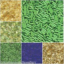20g Miyuki Bugle SEED BEADS 6x2mm Plain Twisted tutti i colori circa 800pcs