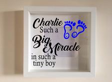 IKEA RIBBA Cornice Di Vinile Personalizzato Wall Art preventivo BIG Miracle Baby Boy