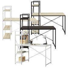 en.casa Schreibtisch Bürotisch Computertisch Arbeitstisch mit Kabeldurchlass