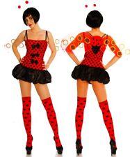 SEXY VETEMENTS FEMME COSTUME mini robe COCCINELLE rouge pois noir HOT UY 11252
