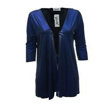 Womens Bnwt New Glitzy Blue Black Cardi Open Front Cardigan Jacket Womens *LICK*