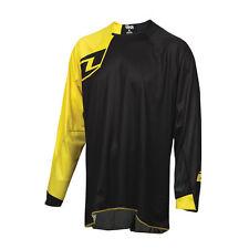 One Industries Vapor Sólido Negro/Amarillo Jersey de ciclo de Bicicleta MTB Motocross MX