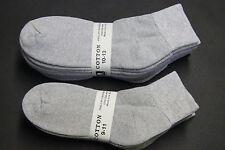 5 Pairs Cotton LOW CUT Ankle Socks 9-11,10-13 gray Men's/Women's Sports Socks M