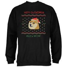 Doge Ugly Christmas Sweater Black Adult Sweatshirt