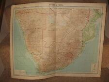 Times Atlas Map SOUTH AFRICA  Bartholomew 1920 Plate 71