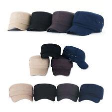 Unisex Mens Womens Dress Hats 3 Eyelets Army Military Cadet Baseball Cap Trucker