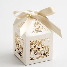 Filigrane collection ivoire ou blanc Mariage Favoriser Boîtes-différents modèles