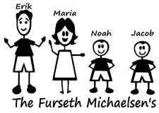 Omino stilizzato famiglia personalizzata nome e cognome Auto/Furgone/finestra/corpo Decalcomania/Adesivo!!!