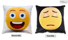2 LATERAL REVERSIBLE CARA SONRIENTE Emociones Emoji Cojín Relleno O Funda De