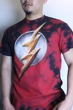 The Flash Justice League Graphic Short Sleeve Shirt Tie dye Authentic DC Comics