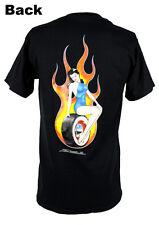 Zombie Hot Rod Custom PIN UP Trophy girl Bianco Muro Pneumatico Muscle US Car T-shirt