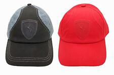 PUMA FERRARI SF LIFESTYLE LOGO BLACK RED FORMULA 1 SPORT  HAT CAP 3023