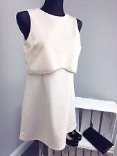ASOS PETITE Scuba Crop Top With Embellished Trim Mini Dress (AS-7/2)