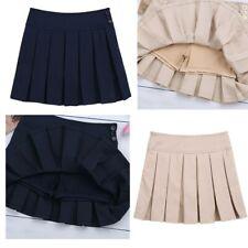 Girl Mini Pleated Skirt Skater Dress Tennis Skirt School Uniform Scooter Skirt