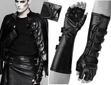 Gants long mitaines cuir gothique punk mode spike clous résille Punkrave Homme