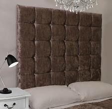 Java High Buttoned Bed Headboard Crush Velvet All Sizes & Colours