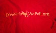 Divided We Fail T-shirt AARP Republican Democrat Political T-shirt President