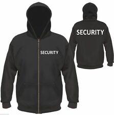 SECURITY Kapuzenjacke / Sweatjacke - M bis XXL - Schwarz/Weiß - jacke sicherheit