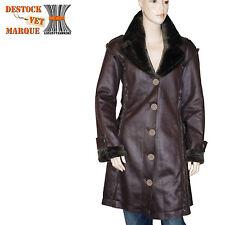 Vente manteau cuir femme