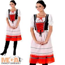 HEIDI Bavarese Ragazza Donna Costume Oktoberfest Birra MAID donne Costume da adulto