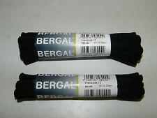 BERGAL SCHWARZ 5mm HALBRUND 90cm & 120cm SCHNÜRSENKEL SENKEL SNEAKER TURNSCHUHE
