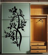 Pretty Fiori e Farfalle Adesivo Parete composizione affascinante Decorazione UK