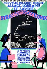 Affiche chemin de fer PLM & Alsace Lorraine - Strasbourg