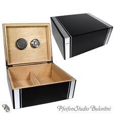HUMIDOR PER SIGARI con ornamento di carbonio, interno cedro-Legno, zigarrenhumidor