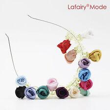 6 Stück Haarschmuck Rosen auf Klammer Haarblumen Ansteckblume bunt  Lafairy
