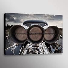Classic Ford Hotrod Scoop Carbon Car Photo Automotive Wall Art Canvas Print