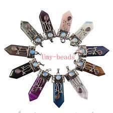 Quartz Opal Agate Stone Pendant Jewelry Natural Quartz Reiki Sword Amethyst Rose