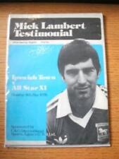 08/05/1978 Ipswich Town v All Star XI [Mick Lambert Tes