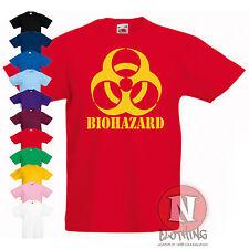BIOHAZARD estampada infantil Camiseta 3-13 AÑOS Fresco Diseño Ciencia Horror