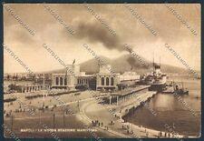 Napoli Stazione Marittima FG cartolina D5923 SZD
