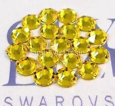144 Swarovski Crystal Rhinestones Flatback CITRINE ss16, ss20 No Hotfix