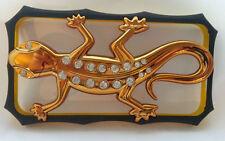 3d Diamante Pared Gecko parachoques caso Para Iphon 4 / 4S Oro