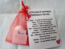 LITTLE BAG OF LOVE/HAPPINESS  Novelty Survival Novelty Gift Fun Keepsake Unique