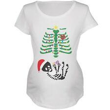 Christmas Tree Skeleton Doll Soft Maternity T-Shirt