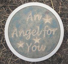 Plaster,concrete angel stepping stone plastic mold