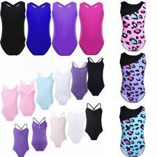 Girls Kids Gymnastic Costumes Ballet Leotard Unitard Skate Dancewear Size 2-14T
