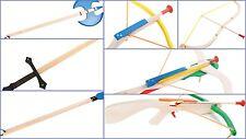Per bambini in legno balestra LANCIA Bow & Arrow SPADA ALABARDA Campo di Battaglia Lotta Nuovo