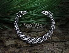 Viking Odin's Horse Sleipnir Torc in 2 Sizes -- Norse/Scandinavian Bracelet/Ring